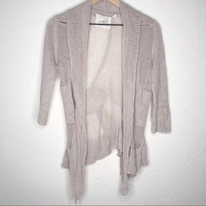Angel of the North Cream Lace Knit Wrap Cardigan